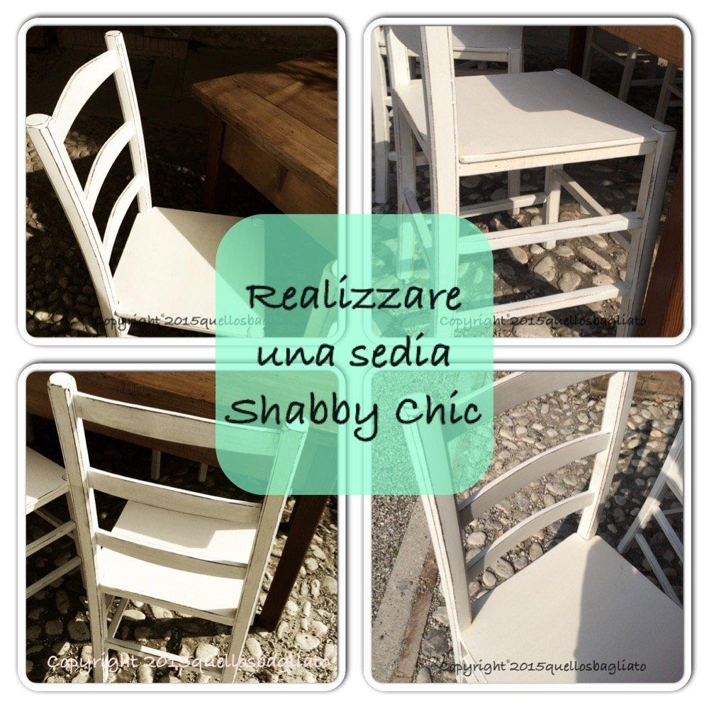 Realizzare una sedia shabby chic