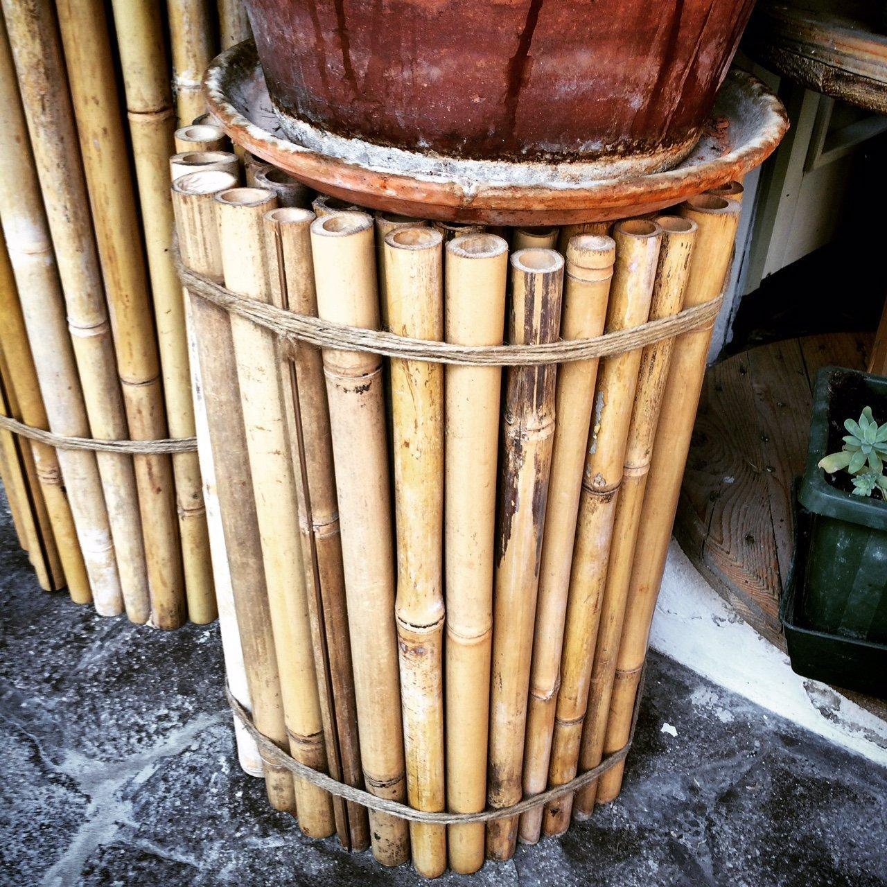 Riciclo creativo: utilizzare canne di bambù per il vostro giardino!