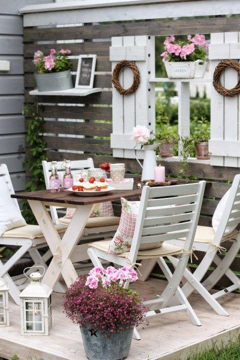 L lazyload'arte del riciclo: arredare un giardino in stile shabby chic!