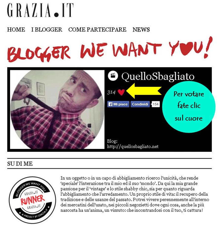 blogger we want you Grazia.it: Quello Sbagliato