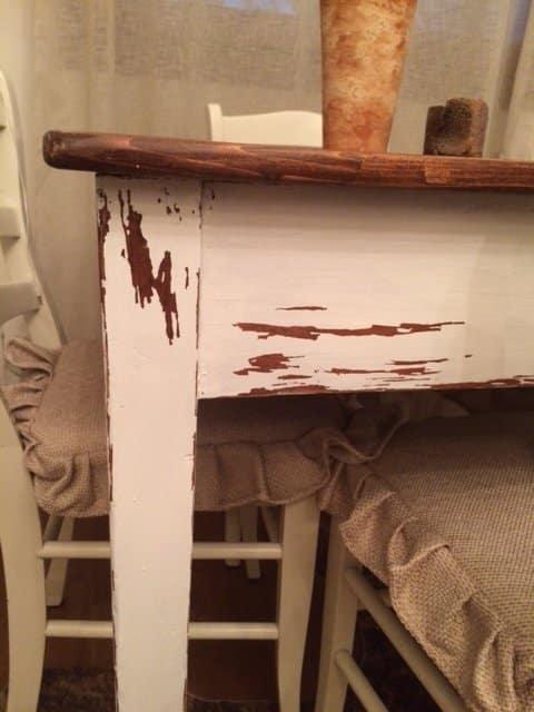 Restyling tavolo in stile shabby chic. Blog Shabby chic