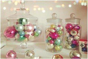 idee per decorare albero di Natale Vintage