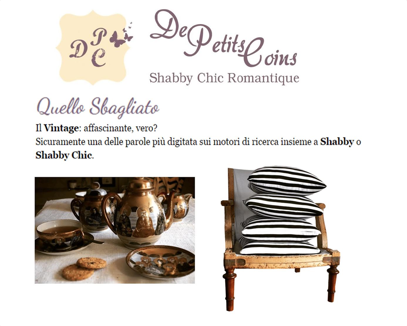 Quello Sbagliato: Vintage blog  Shabby chic blog