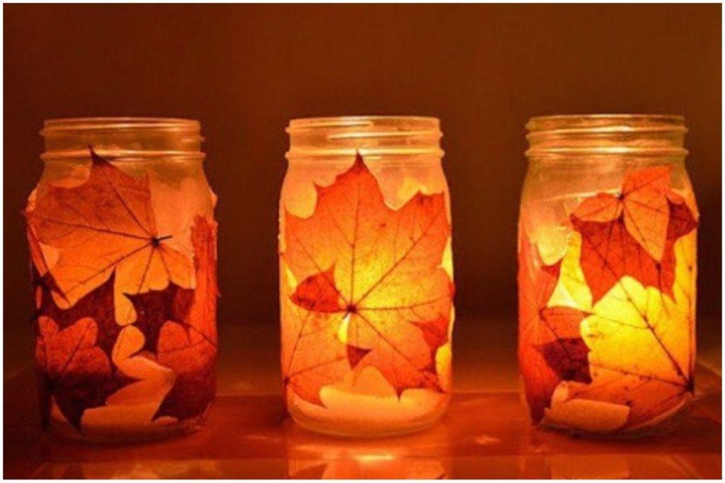Realizzare porta candele con foglie autunnali quello sbagliato vintage fashion blog - Composizioni autunnali casa ...