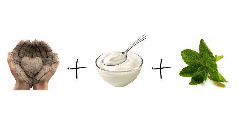 maschera fai da te argilla menta yogurt