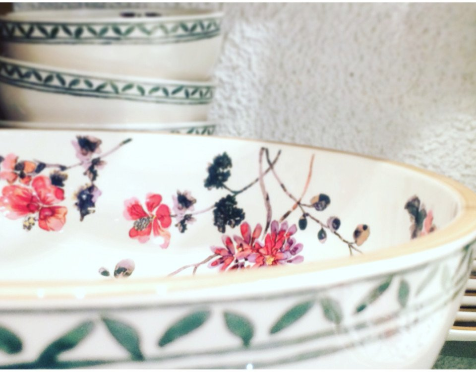 piatti vintage per decorare la tavola