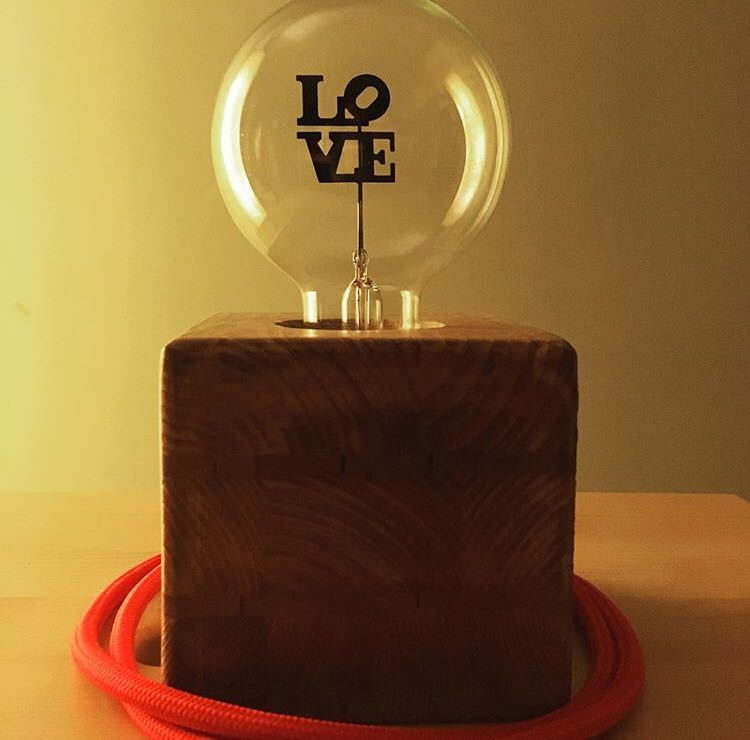 lampada love san valentino vintage