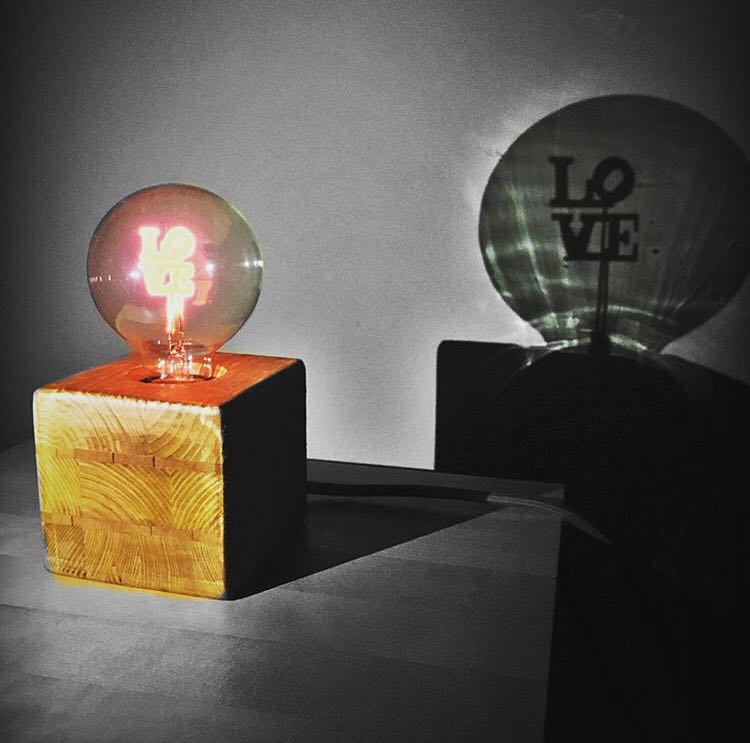 lampada vintage san valentino love