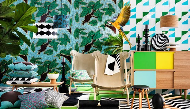 arredare casa stile jungle