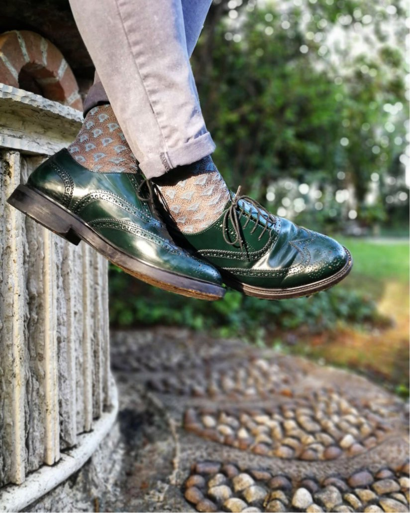 calze e scarpe da uomo vintage gatti a pois