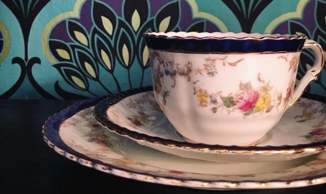 tazza da tè porcellana inglese vintage