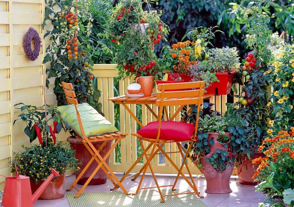 arredare terrazzo stile vintage