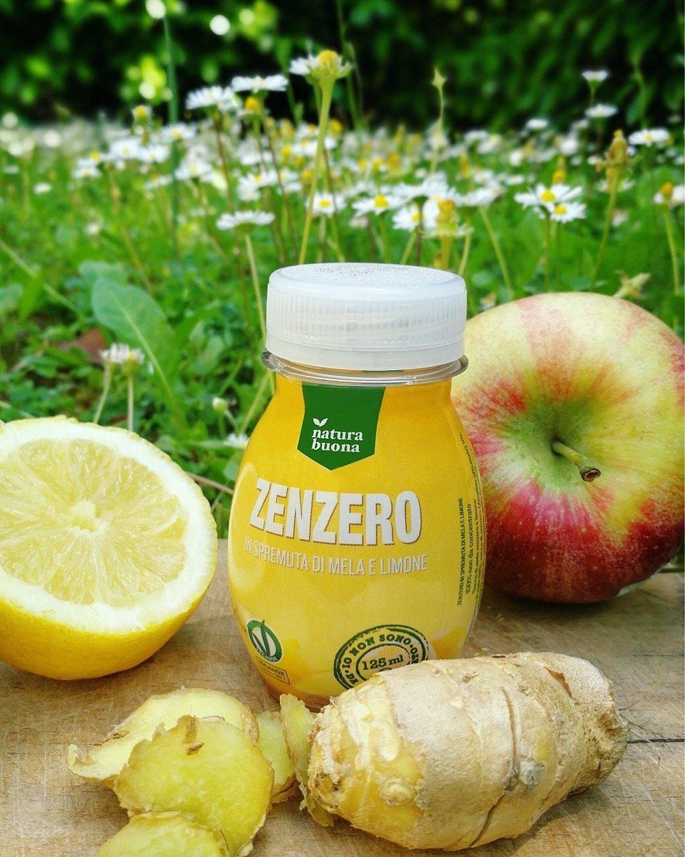 estratto di Zenzero in pura spremuta di mela e limone Natura Buona