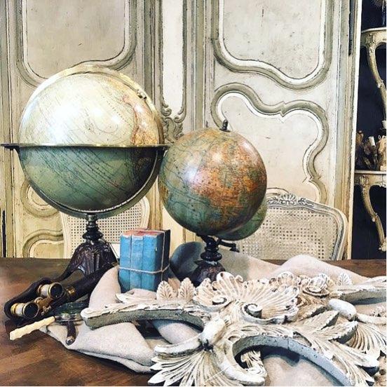 mappamondo vintage arredamento
