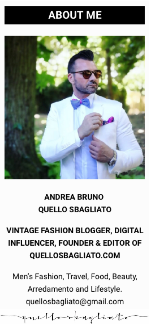 fashion blogger uomo italiano influencer