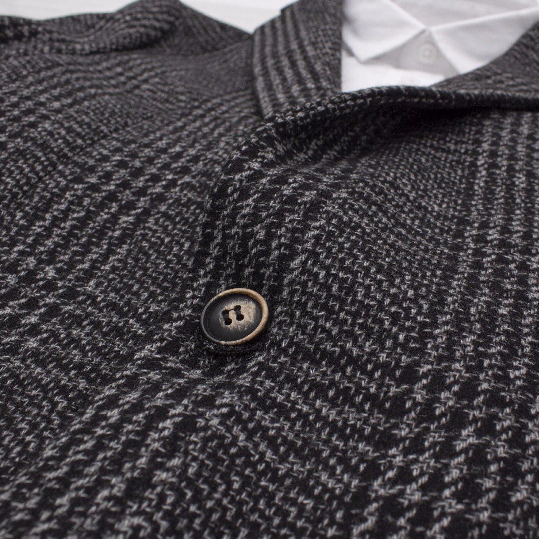 giacca di tendenza a quadri uomo