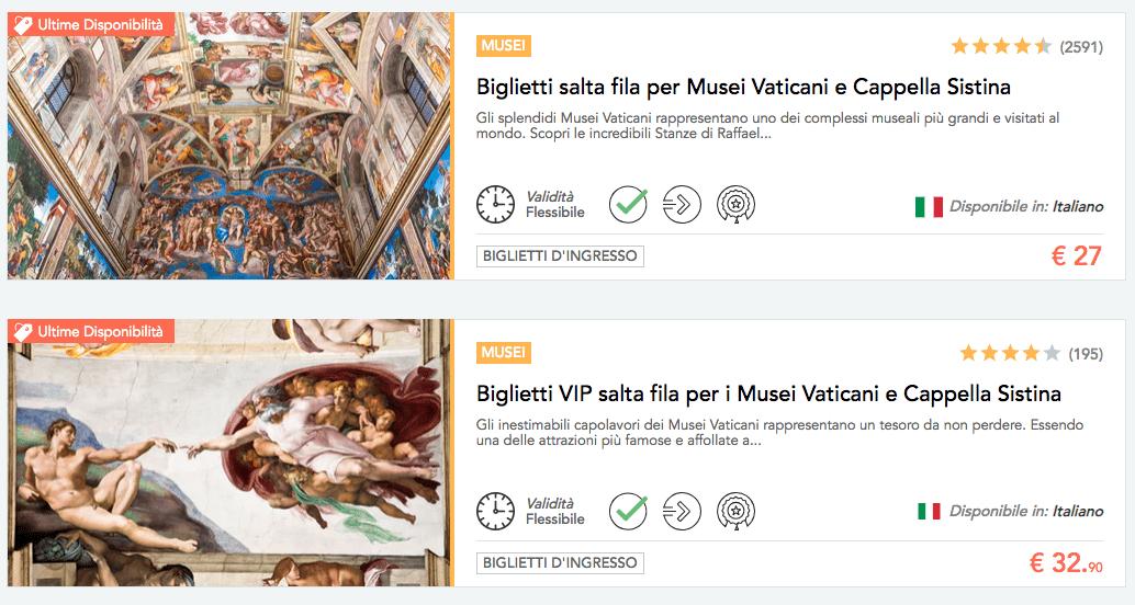 vacanze a roma prenotare biglietti musei vaticani