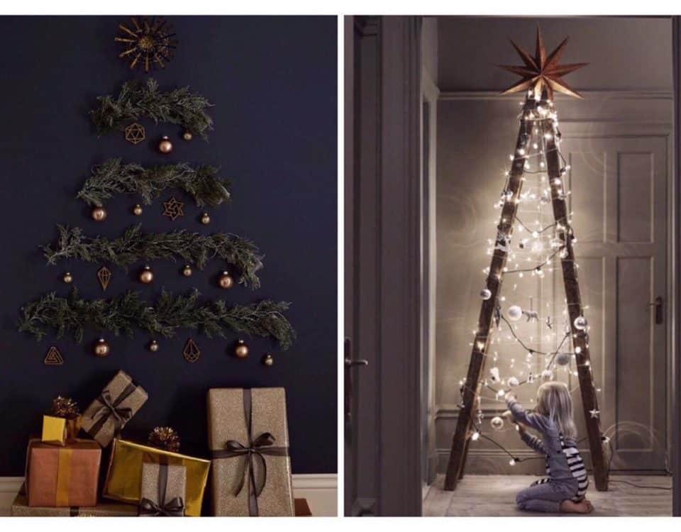 come realizzare alberi alternativi e diversi a Natale