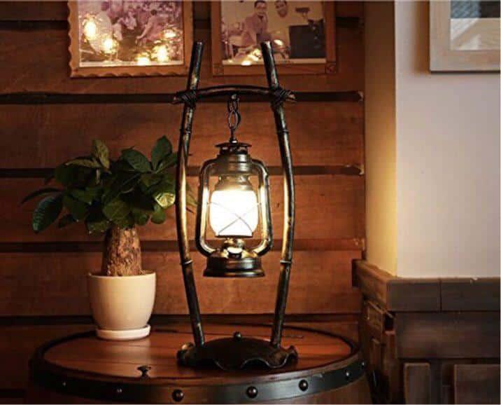 vintage arredare con le lanterne