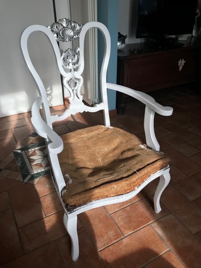 Restyling sedia vintage shabby chic