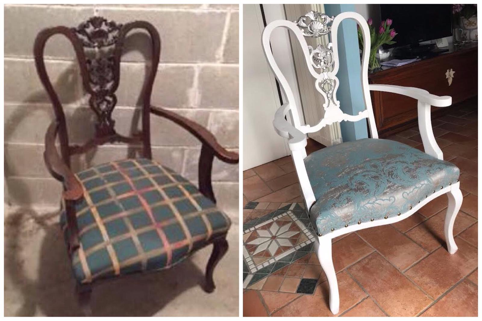 restaurare una vecchia sedia vintage