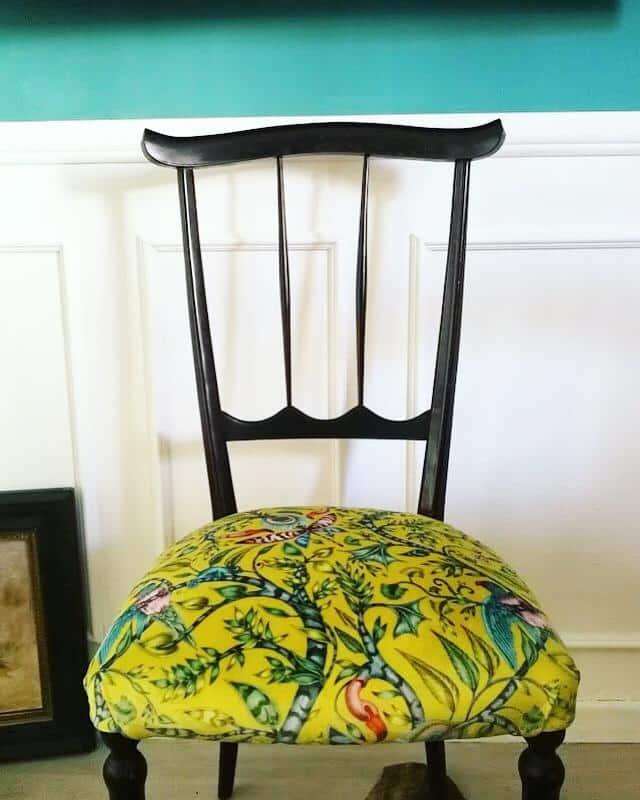 rivestire una sedia vintage