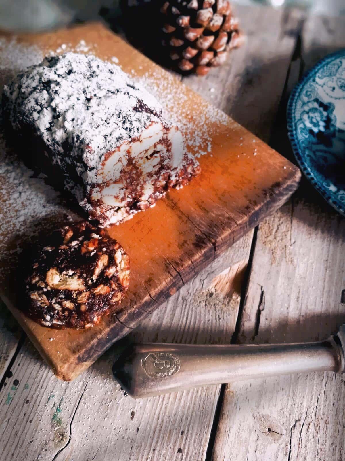 ricetta dolce facile e veloce salame al cioccolato