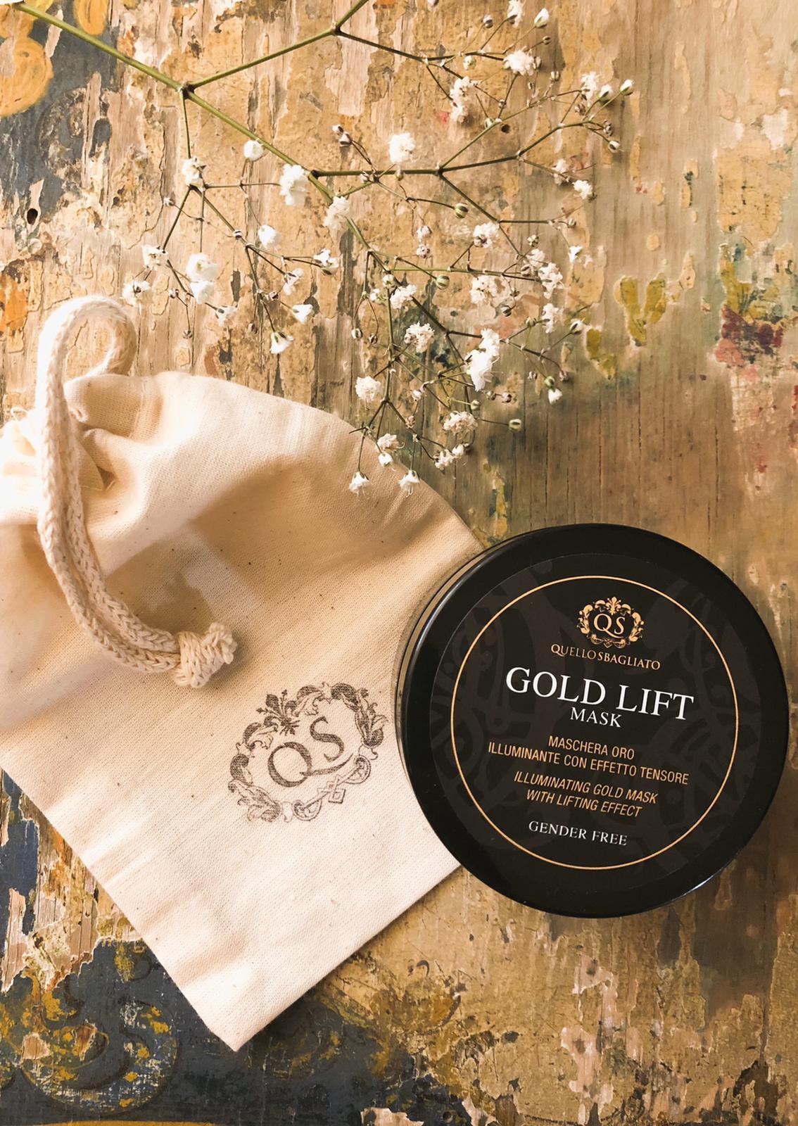 maschera oro illuminante con effetto tensore illuminante viso per uomo e donna