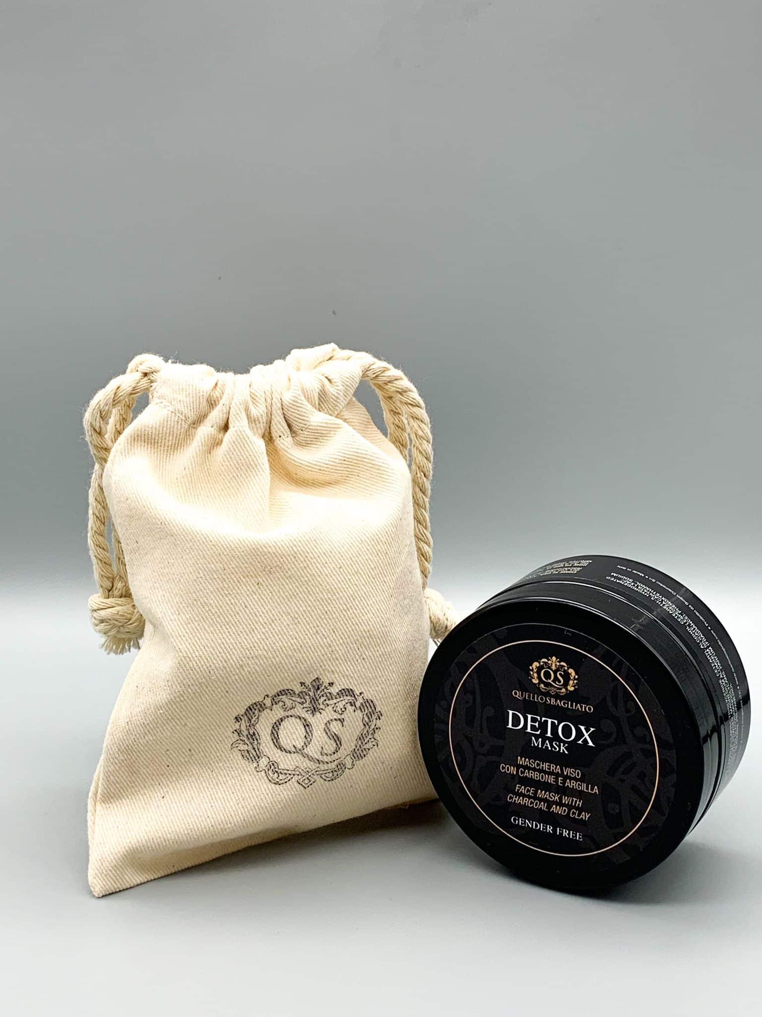 detox mask maschera purificante e nutriente carbone e argilla