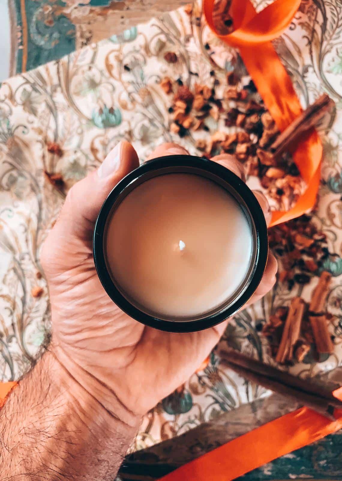 mela e cannella natale candela di soia fatta in casa naturale per la casa BIO di soia handmade Quello Sbagliato