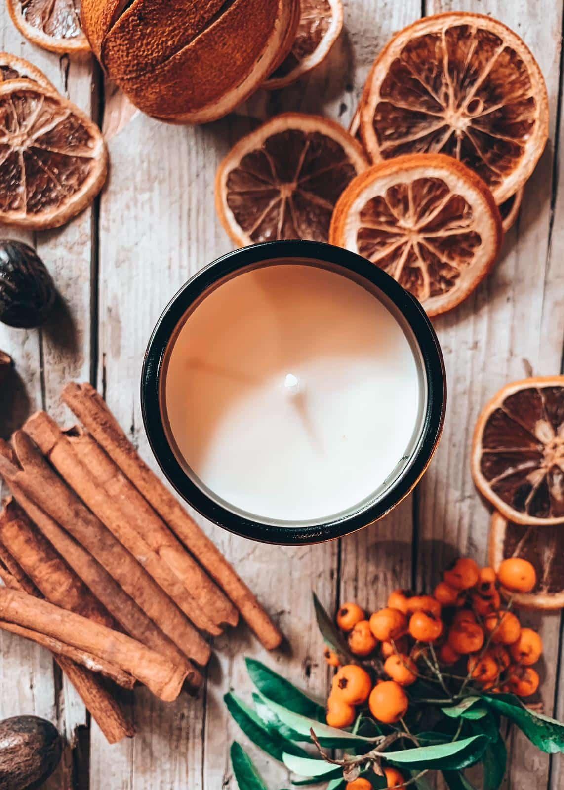 Arancia e cannella fragranza candela artigianale per la casa profumata di soia handmade Quello Sbagliato