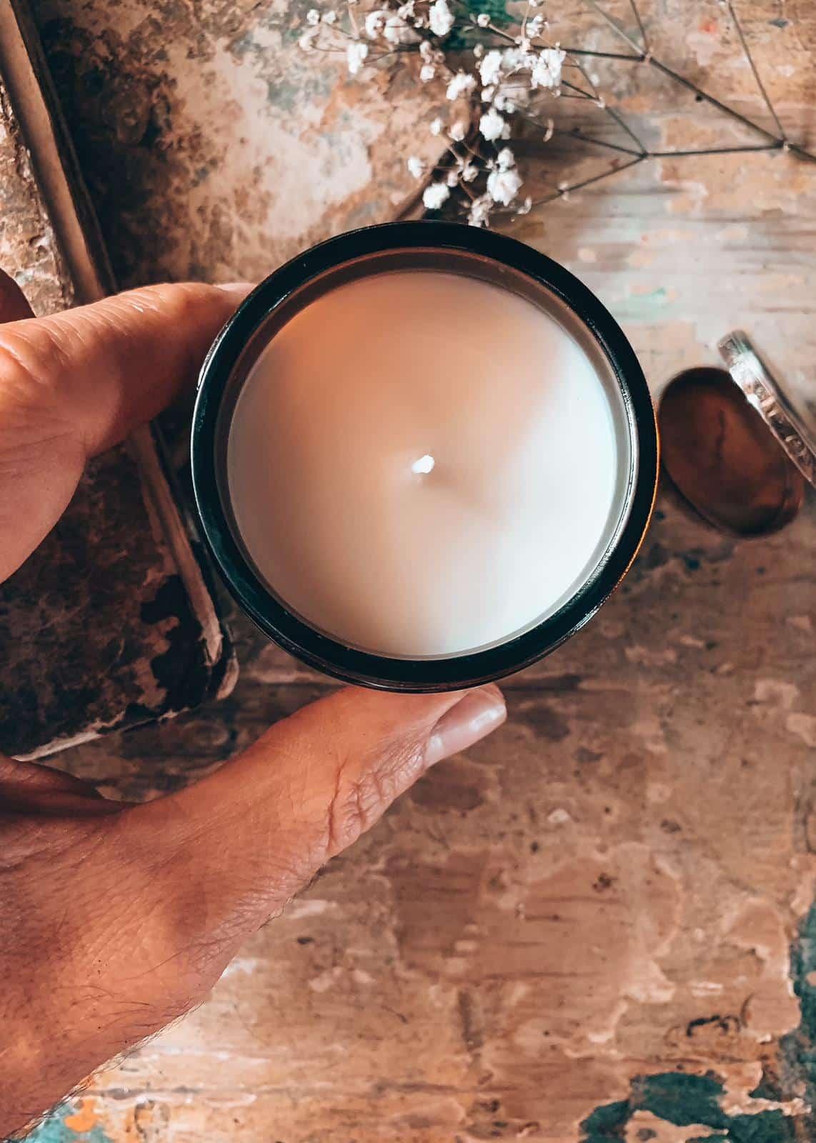 Profumo polvere di talco fragranza candela fatta a mnao per la casa profumata di soia handmade Quello Sbagliato