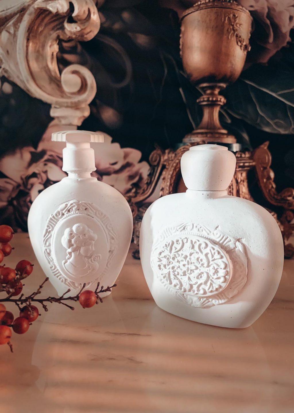 decorazione profumatore in gesso per ambienti flacone profumo