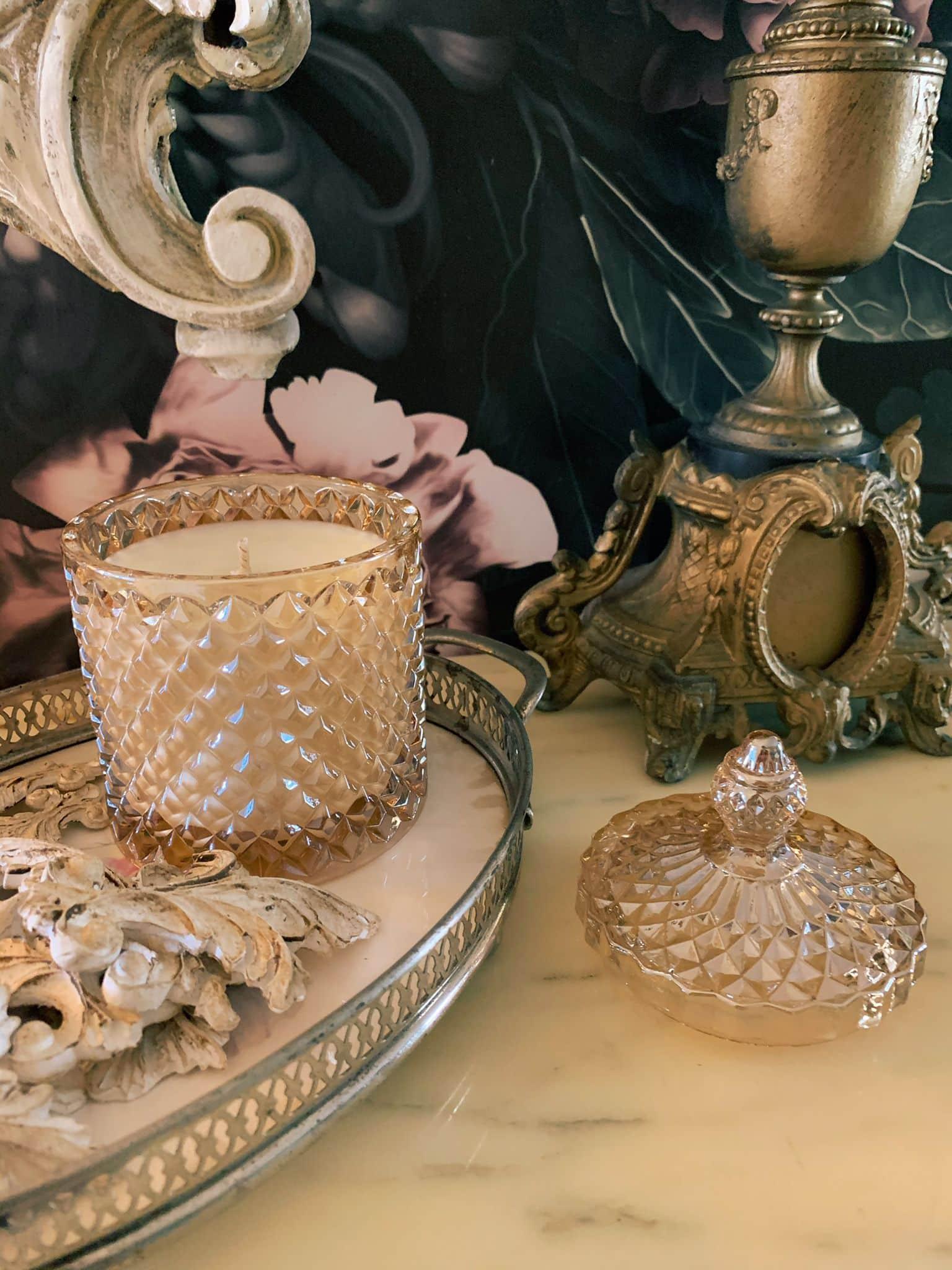 oro di bacco candela al vino cera di soia