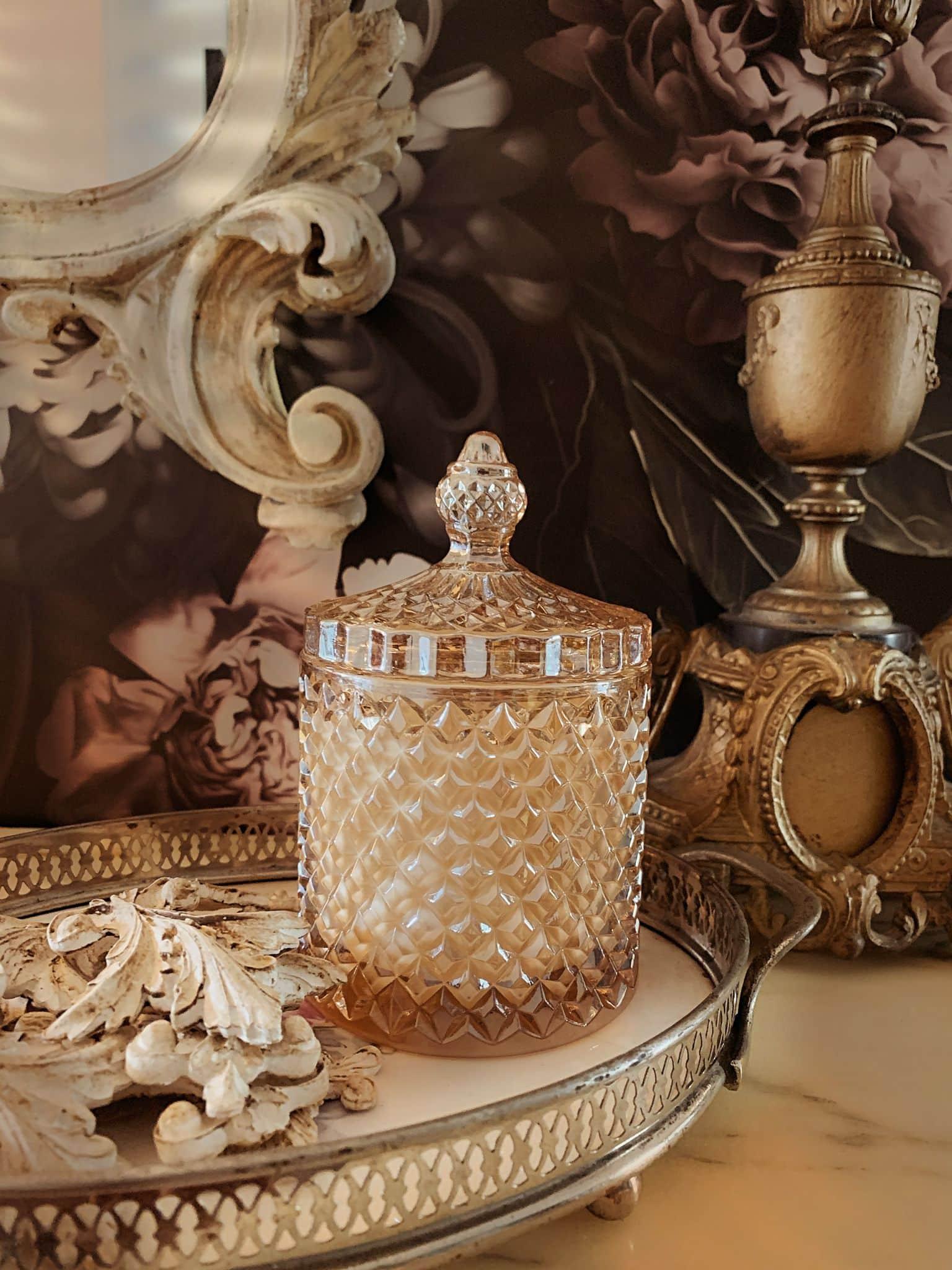 vendita online candela cera di soia biologica oro di bacco contenitore oro vino