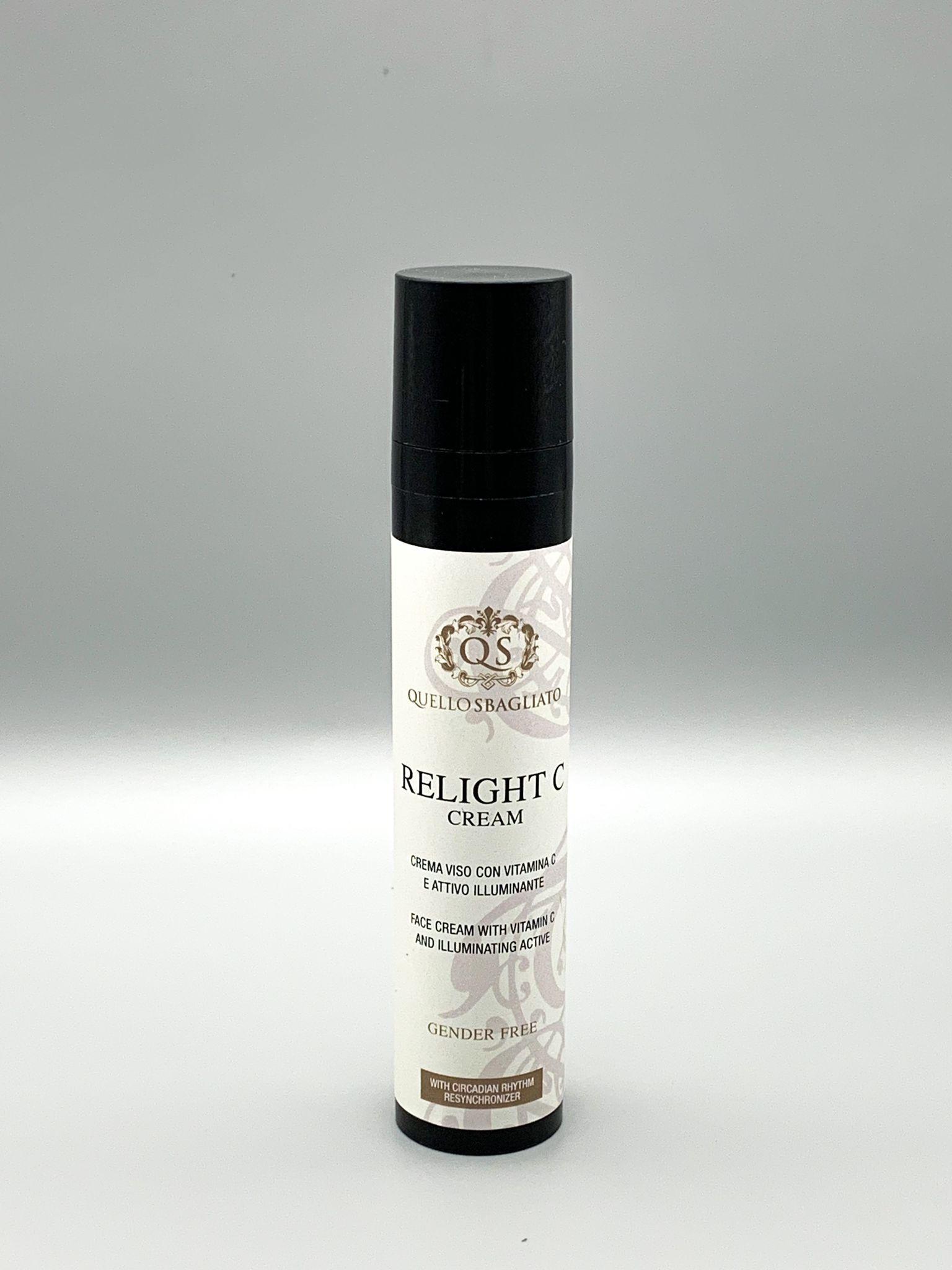 Crema viso illuminante alla vitamina C anti macchie cutanee Relight C Cream