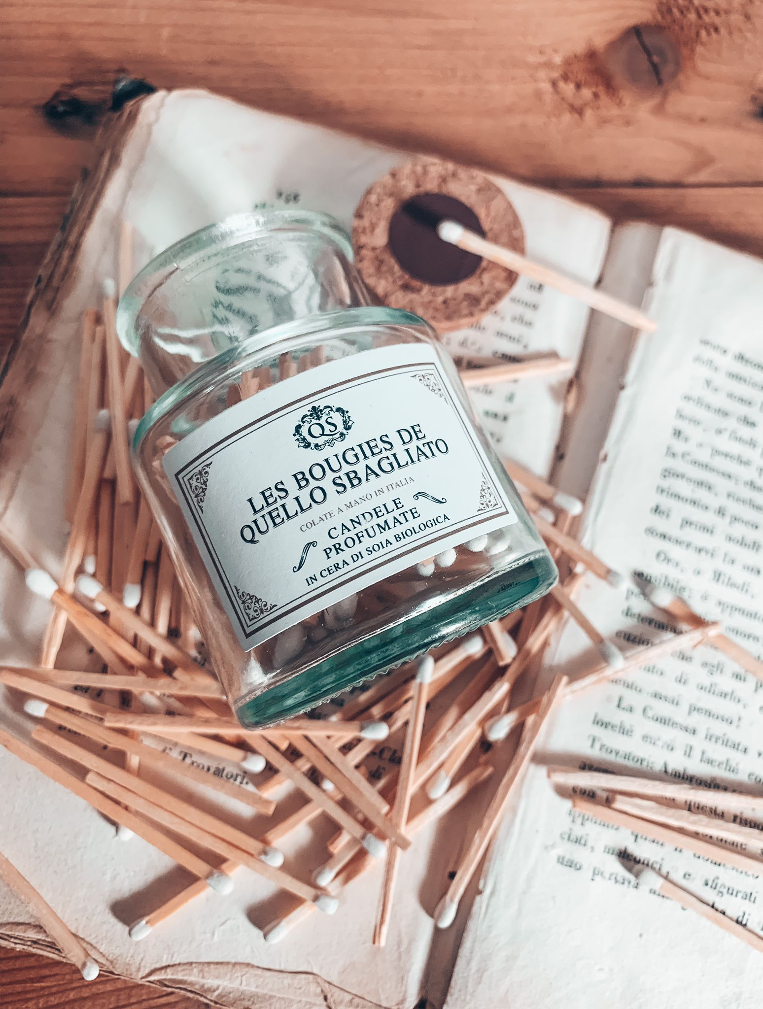 fiammiferi matches per accensione candele in cera di soia colate in italia artigianali
